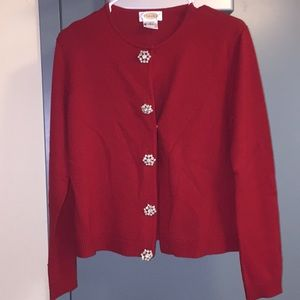 Talbots Red Cardigan